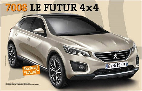 Peugeot сделает семиместный кроссовер под индексом 7008