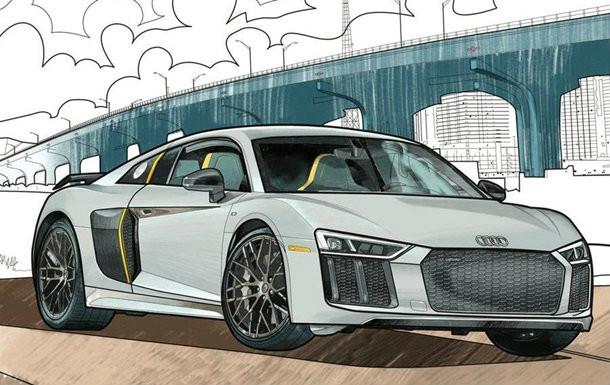 Audi и Mercedes-Benz выпустили раскраски для сидящих на ...