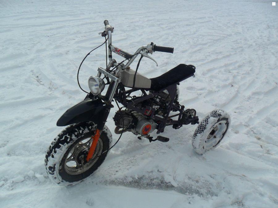 Как из мопеда дельта сделать снегоход